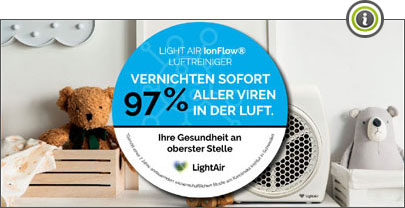 Light Air IonFlow vernichtet 97% aller Viren in der Luft